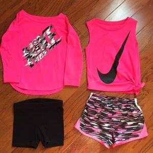 Nike Hot Pink Black Bundle 2T